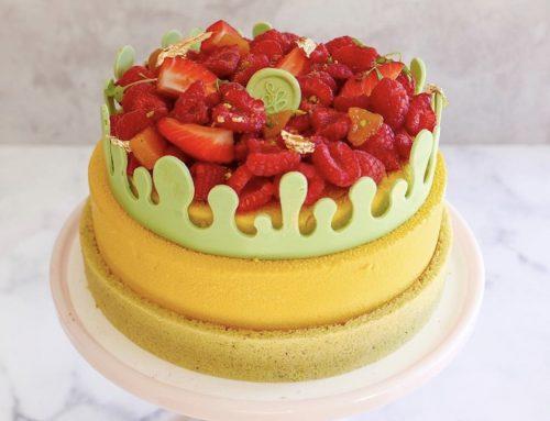 Mango,  Passionfruit Entremet