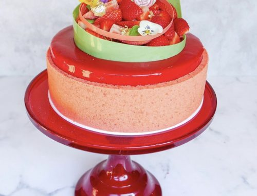 Strawberry, Basil & Lemon Entremet